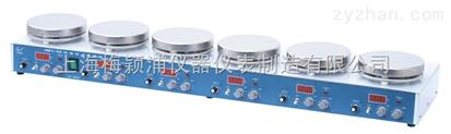上海梅穎浦 H01-1D六工位數顯磁力攪拌器  每個工位可獨立操作