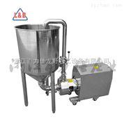 廠家直銷循環帶支架漏斗管線式高剪切乳化機 均質乳化泵 均質泵