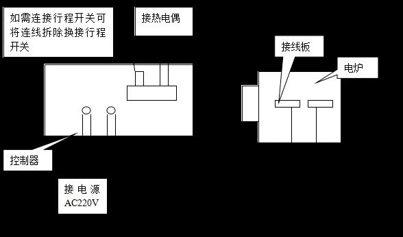 五,sx-8-13电炉与温度控制器接线示意图